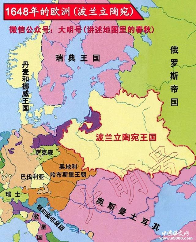 俄罗斯波兰地图