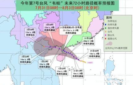 七號臺風韋帕生成_七號臺風韋帕登陸時間路徑是怎樣的
