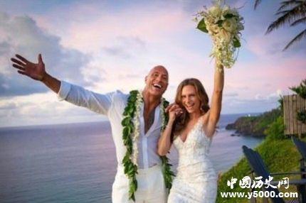 巨石强森结婚_巨石强森和谁结婚_巨石的老婆名字