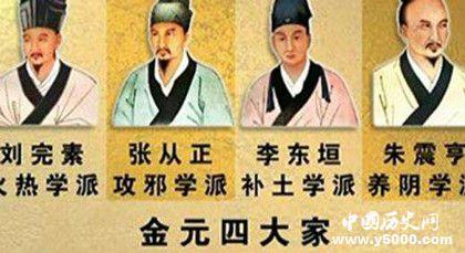 金元四大家的著作_金元四大家的代表是_金元四大医学家