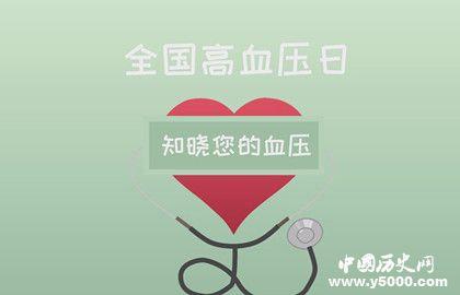 2019年全國高血壓日_2019年全國高血壓日主題_2019年高血壓日主題